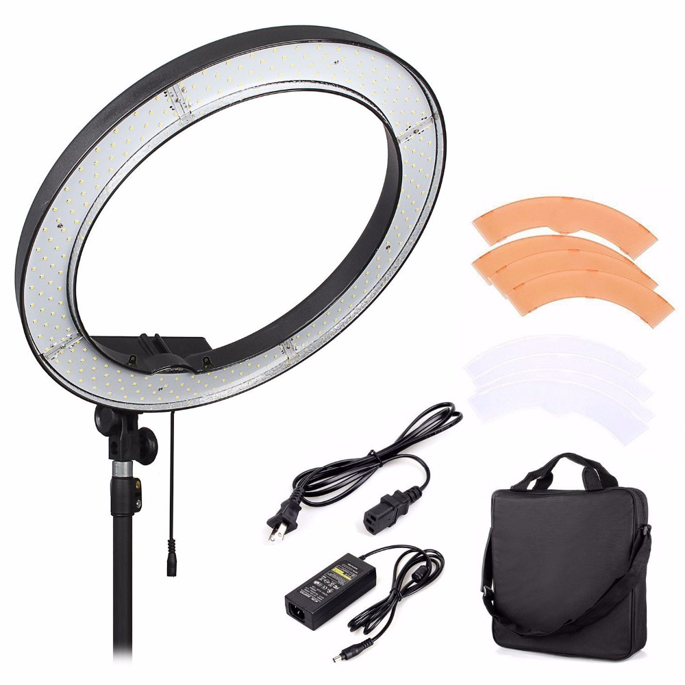Online get cheap lamp ring diffuser aliexpress alibaba group mcoplus rl 18 led ring light selfie light 240pcs beads studio led lamp panel video light lamp with color diffusion filter parisarafo Choice Image