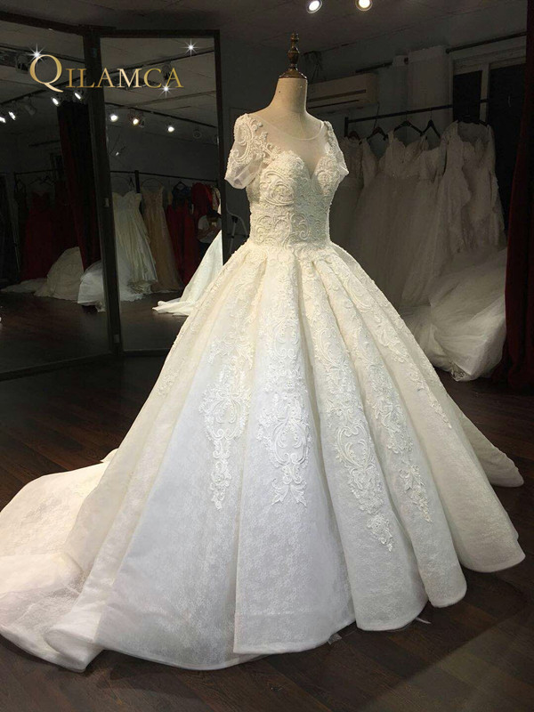 Nuevo Modelo Cap Sleeve Beautiful New Lace 2017 Nuevas llegadas - Vestidos de novia