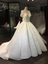 New Model Cap Sleeve Beautiful New Lace 2017 New Arrivals Wedding Dress Real Photos vestido de noiva Big Pleat