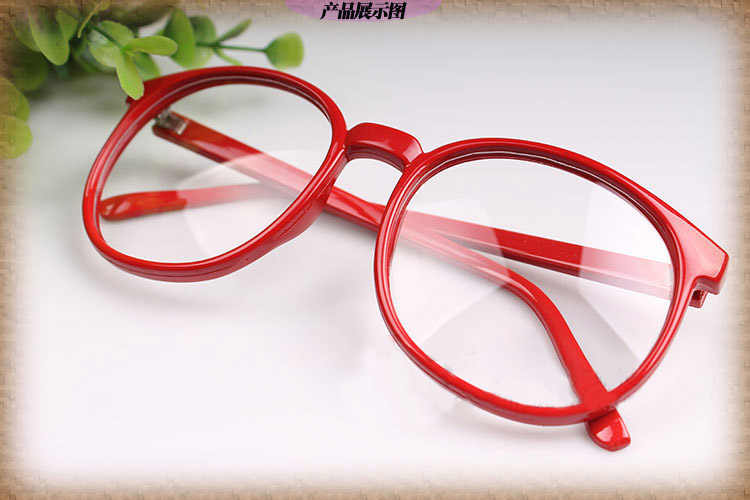556e1f4129 ... Beyond Boundary Kyoukai no Kanata Kuriyama Mirai Glasses Red Round Glasses  Eyewear Cosplay Accessories