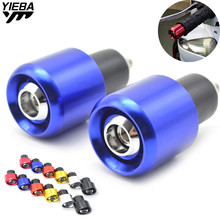 Motorcycle Handlebars 22mm Aluminum Universal Grips Ends Bar Ends Handlebars Caps For YAMAHA Tmax 500 Tmax530 XJR 400 XJR 1300 7 822mm handle bar motorcycle mirror bar ends side mirror for yamaha tmax 500 tmax530 xjr 400 1300 yzf r125 r3 r6
