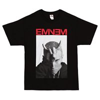 Eminem Horns Chicago Lollapalooza 2014 Tour T Shirt Black 3XL Large Men 2018 Brand Clothing Tees
