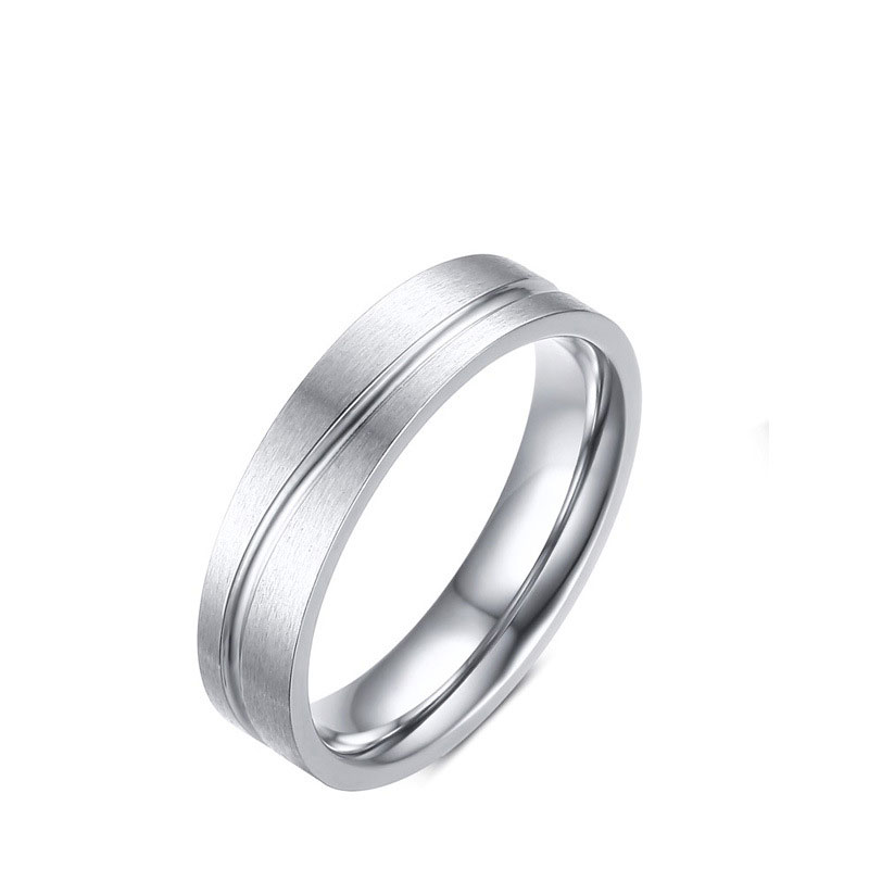 Stainless Steel Simple Ring Classic Wedding Rings For Men