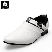 URBANFIND Hombres De Negocios Zapatos Formales Negro/Blanco Hombre Oxfords UE 39-44 El Último Estilo Slip Punta estrecha En Los Hombres de La Moda pisos
