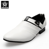 URBANFIND Latest Style Business Men Formal Shoes Black White Man Oxfords EU 39 44 Pointed Toe