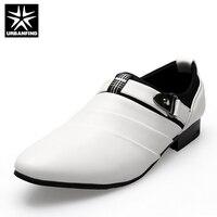 URBANFIND Ludzi Biznesu Formalne Buty Czarny/Biały Mężczyzna Oksfordzie UE 39-44 Najnowsze Styl Pointed Toe Slip On Mężczyzn Mody mieszkania