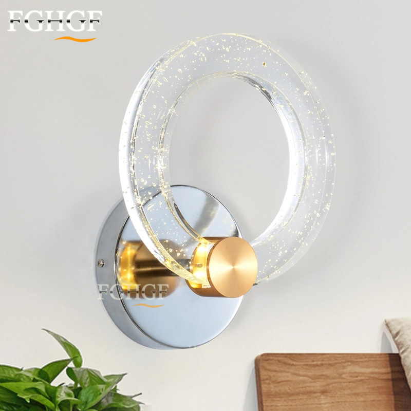 Modern LED Wall Lamp Round Circle Lamp Bedroom Lights Luminaire Remote Controller bubble Sconce Beside Lamp 100% GuarranteeModern LED Wall Lamp Round Circle Lamp Bedroom Lights Luminaire Remote Controller bubble Sconce Beside Lamp 100% Guarrantee
