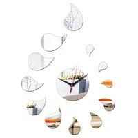 New 2018 Acrylic Material 3d Mirror Wall Clock Modern Design Home Decor Wall Watch Art Clocks