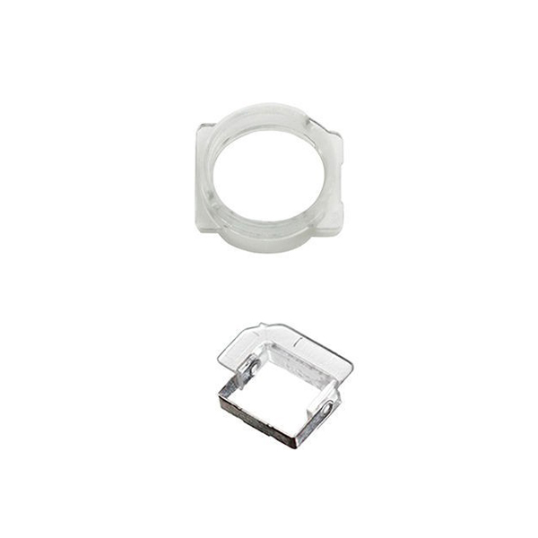 10sets/lot High Quality Front Camera Plastic Cap Seal Bracket Ring With Light Sensor Circle Holder For iPhone 5 SE 5G 5S 5C