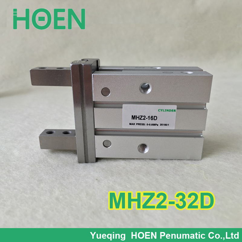 High quality double acting air gripper pneumatic cylinder MHZ2-32D SMC type clamps mhc2 10d angular style double acting air gripper standard type smc type pneumatic finger cylinder