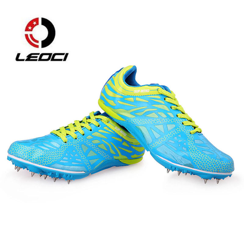 Men and Women Spikes Running Shoes Student Track Shoes Lightweight Race Sprint Dash Sports Shoes Outdoor Nail Sneakers Trainers