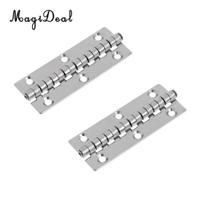 2 Pieces High Polished Stainless Steel Marine Boat Piano Hinge Door Hatch  Cabinet Hardware Part Accessories