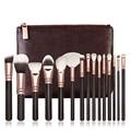 10 Sets Professional 15pcs Rose Golden/Pink Makeup Brushes Set Cosmetic Make Up Tools Kit Powder Foundation Eyes Brush with bag