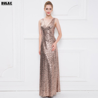 2018 Spring Europe Women Fashion V Neck Sleeveless Slim Sexy Bow Sequins Elegance Dinner Party Banquets Shiny Bling Long Dress