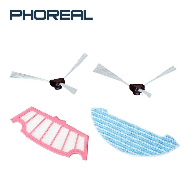 PhoReal 6 pièces Brosse + 5 pièces Vadrouille + 5 pièces Filtre HEPA Pour Aspirateur Sans Fil FR 8 Accessoires wifi Robot Aspirateur Pièces