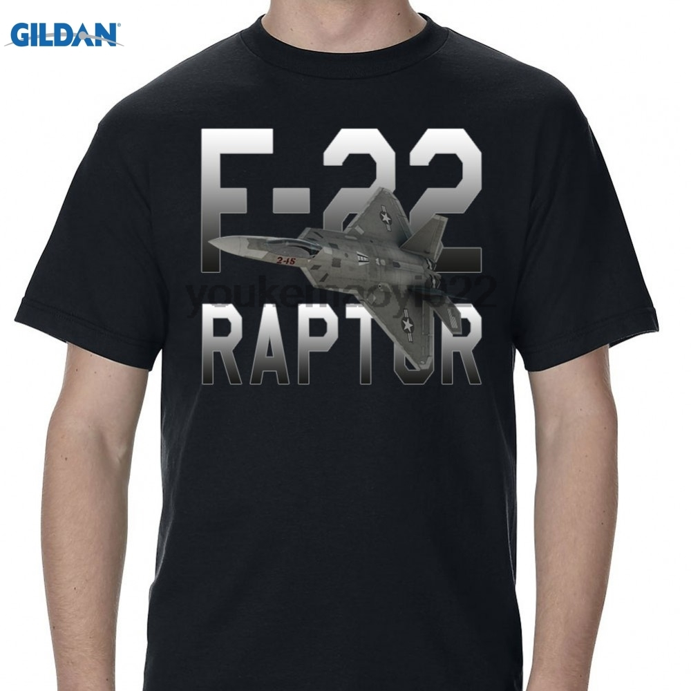 GILDAN f 22 raptor mens black t shirt_3