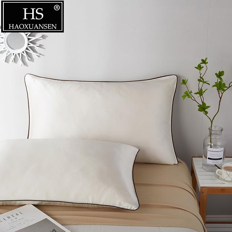Hs 2pcs Soft 100 Mulberry Silk Pillowcase Smooth Envelope