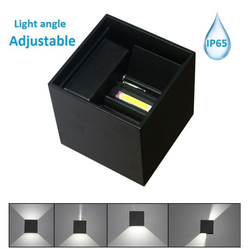 Beam angle Adjustable Led Wall Lamp modern wall Mounted light indoor outdoor Cube Led Porch Lights sconces UP and Down