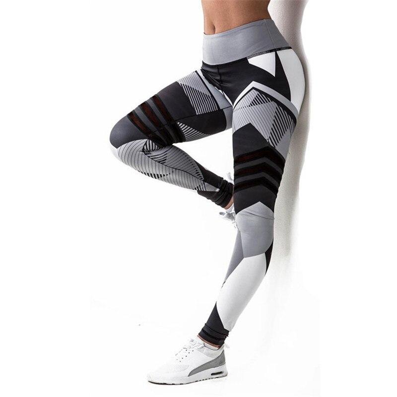NORMOV Printing Women Leggings Polyester Ankle-Length Pants Breathable Slim Fitness Knitted High Waist Push Up Femme Leggings