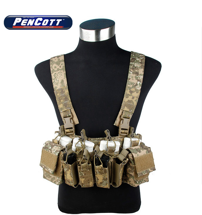 PenCott BadLands D3 CRX Chest Rig 556 M4 Vest Airsoft Military Tactical Gear +Free shipping(STG050969) tactical strategic d mittsu chest rig airsoft military combat gear khaki free shipping stg050940
