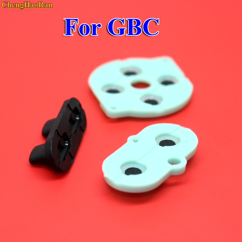 2   10 sets For Nintendo Game Boy Color/Colour Button Silicone Rubber Pad Conductive A B Select Start Rubber Button For GBC-in Replacement Parts & Accessories from Consumer Electronics