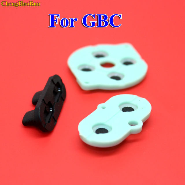 2   10 sets For Nintendo Game Boy Color/Colour Button Silicone Rubber Pad Conductive A B Select Start Rubber Button For GBC