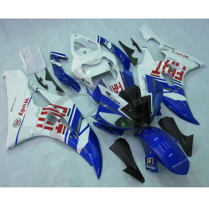Injection ABS Plastic Fairing Kit For YAMAHA YZF R6 YZF-R6 2006-2007 Blue FIT kemimoto r6 motorcycle complete full set of fairing bolts bolt kit body screws for yamaha yzf r6 2006 2007 r6