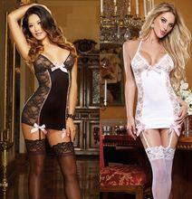 Sexy Lingerie Hot Intimate Nightclothes Fantasias Sensuais Erotica Lenceria Woman Sleepwear Nightie Transparent Gown Lady CA853