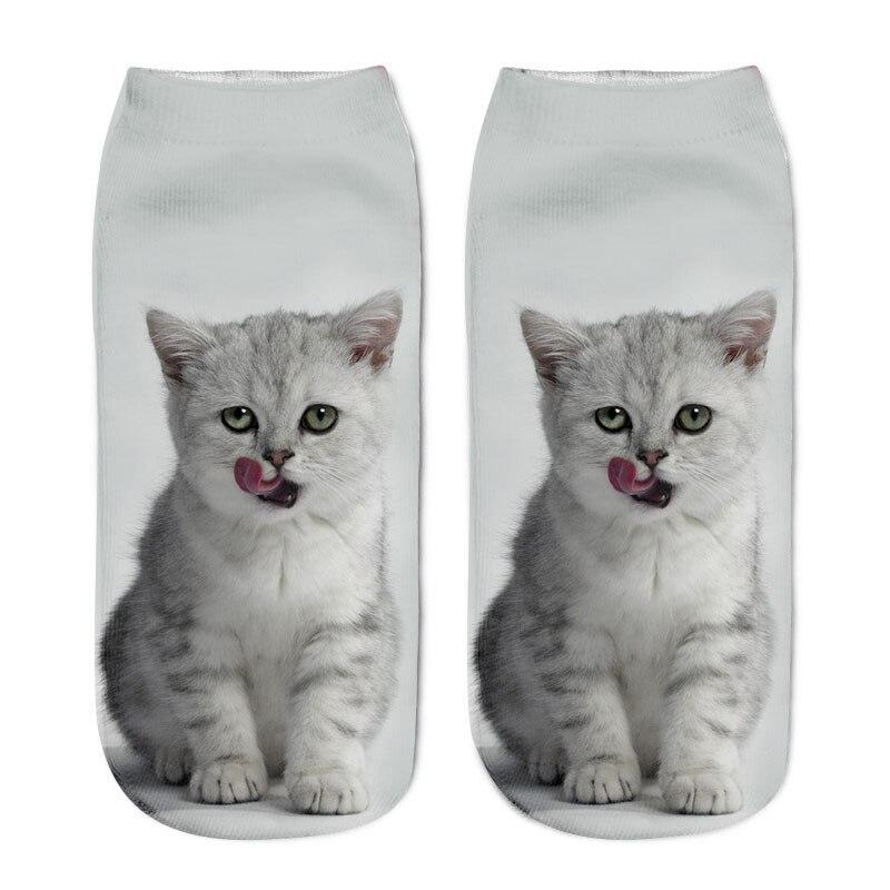 SLMVIAN New 3D Printing Women Socks Brand Sock Fashion Unisex Socks Cat Pattern Meias Feminina Funny Low Ankle HOT HTB1LEAWPFXXXXcbXXXXq6xXFXXXu