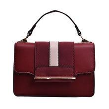 8489300d7 Nuevo cuero de la PU de moda mujer bolsos Patchwork mujeres bolso cubierta  roja, bolso