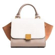 Famous Designer Brand Luxury Women Leather Handbag Fashion Smile Face Tote  Patchwork Trapeze Smiley Crossbody Bag Bolsa Feminina c66ed93b64ecb