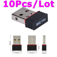 10Pcs RALINK RT5370 150Mbps Mini Wireless USB WiFi Adapter Wi Fi Ethernet Adaptador Wi-Fi Network LAN Card for Laptop PC