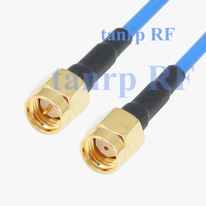 15CM coaxial Sexi Flexible blue jacket jumper extension cable RG405 6in RP SMA male to SMA male plug RF 3G 4G router WIFI