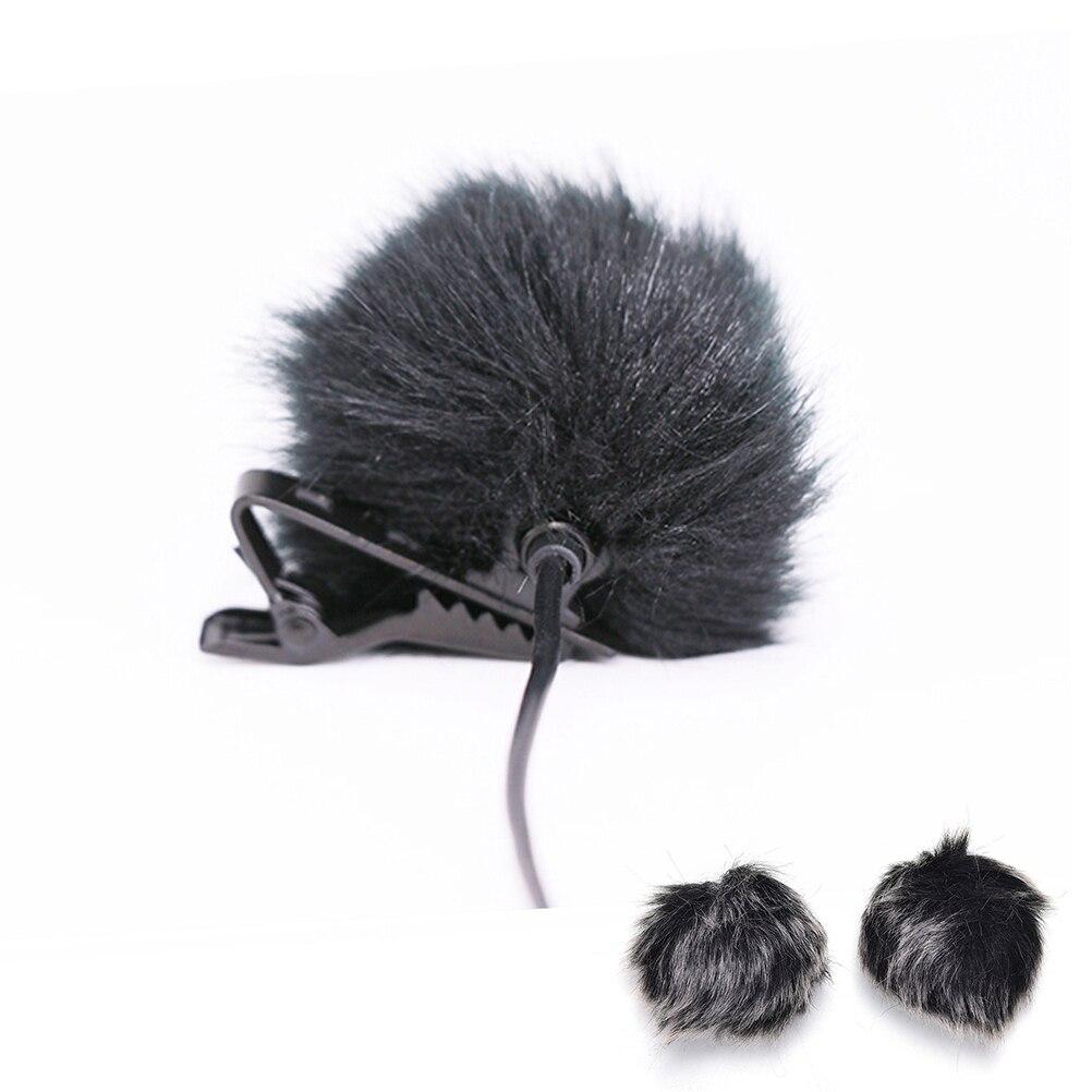 Dark Grey Artificial Fur Microphone Windscreen Outdoor MIC Windshield Wind Muff For Lapel Microphone 1PC