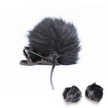Grigio Scuro di Pelliccia Artificiale Microfono Parabrezza Allaperto Microfono Parabrezza Vento Muff per Risvolto Microfono 1 Pc