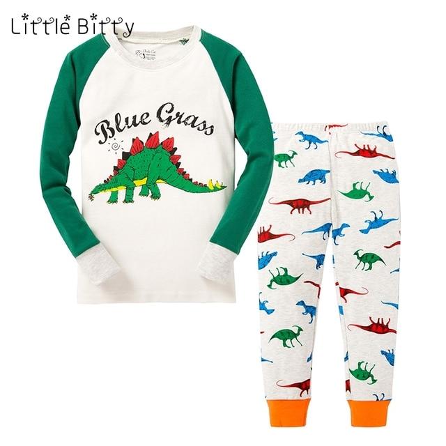 0a2553975 100 Cotton Boys Pajamas Children Dragon Sleepwear Dinosaur Pijamas ...