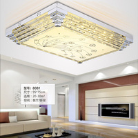 Fashion Crystal Ceiling Lamp Light Fixture 3 Color Changeable Square LED Ceiling Light Living Room Bedroom