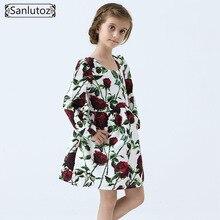Filles Robe D'hiver Filles Vêtements Fleur Enfants Vêtements Marque Enfants Robe pour la Princesse Mariage de Fête De Vacances Bébé Enfant En Bas Âge