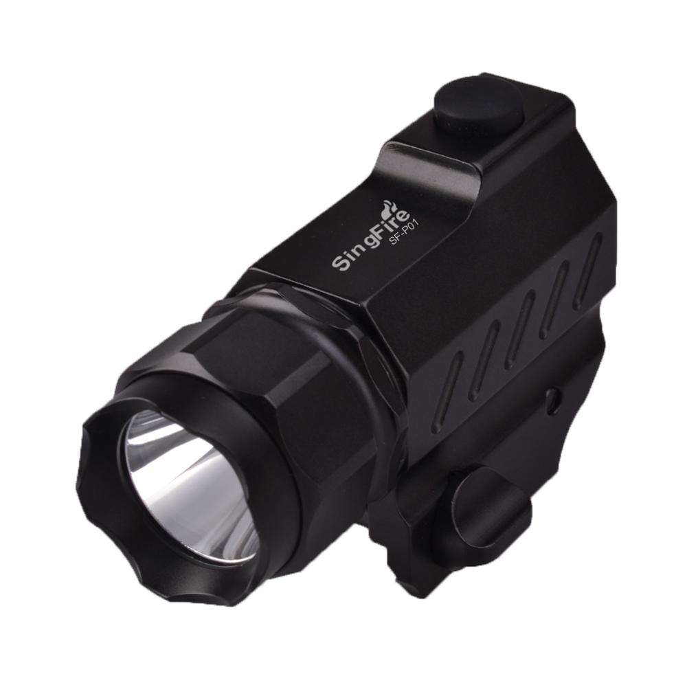 цена на SingFire SF-P01 CREE XP-G R5 2-Mode 350LM Tactical Pistol LED Flashlight (1xCR123A battery) Black
