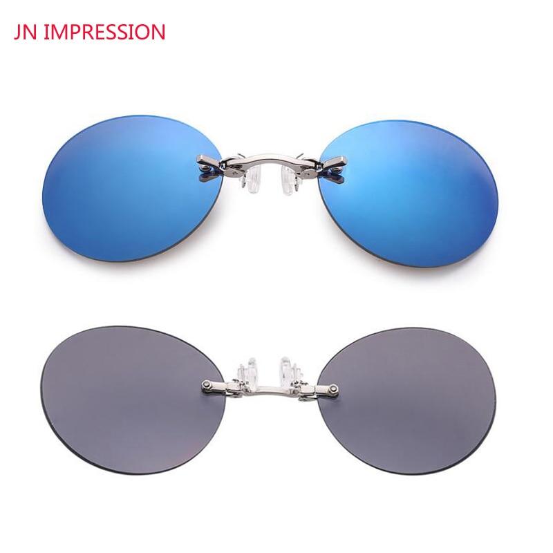 6f7f42cebeff2 JN IMPRESSÃO Marca Designer Retro Rodada Clip On óculos Nariz Império  Hacker de Morpheus Matriz Filme sem aro óculos de sol dos homens em Óculos  de sol de ...