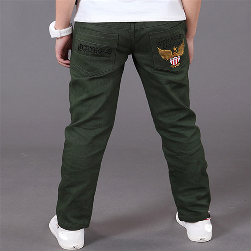 3 Color Winter Kids Boy Clothes Boys Pants Toddler Children Kids Boy Warm Pocket Embroidery Pants Casual Trousers Clothes JY12#F sosocoer boys jeans kids clothes winter thick warm boy cowboy pants high quality girls trousers fashion casual children costume