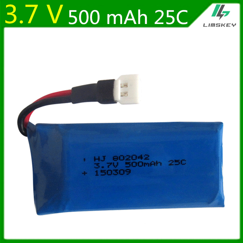 3.7V <font><b>500mah</b></font> Lipo <font><b>Battery</b></font> For Udi U941 U816A U927 WIFI818 107 385 Li-po <font><b>battery</b></font> <font><b>3.7</b></font> V 500 mah 802042 25C XH Plug <font><b>Batteries</b></font> image