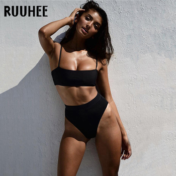 RUUHEE Swimsuit Women Bikini 2019 Swimwear Bathing Suit Women Sport Top High Waist Bikini Set Push Up Female Summer Beachwear 3