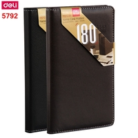 1PCS Deli 5792 A6 Name Card Holder Business Card Stock Card Storage Book 180 Pieces Card