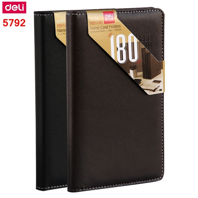 1pcs deli 5792 a6 name card holder business card stock card storage 1pcs deli 5792 a6 name card holder business card stock card storage book 180 pieces card reheart Image collections
