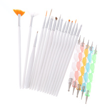 2set * 20pcs Nail Brush Brushes Set Nail polish gel art Paint Design Pen Tools Makeup brushes for manicure Nail Art Bundle Kit