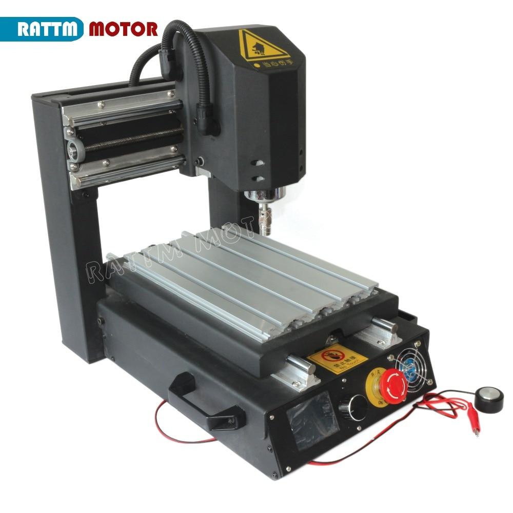 3 axes 2030 défonceuse numérique de bureau gravure fraiseuse avec arrêt d'urgence haute résistance en acier 110 V/220 V + 400 W broche