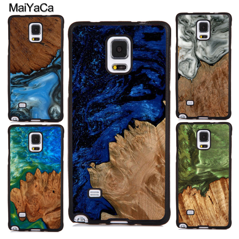 MaiYaCa <font><b>Wood</b></font> Resin Pattern Rubber <font><b>Case</b></font> For <font><b>Samsung</b></font> <font><b>Galaxy</b></font> A50 A70 A10 A20 A30 <font><b>A40</b></font> S7 S8 S9 S10 S10e Note 8 9 10 Plus image