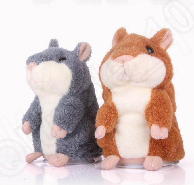 Talking Hamster Plush Toy Cute Speak Sound Record Hamster 15cm Hamster Pet Talking Record Mouse Plush Kids Toy