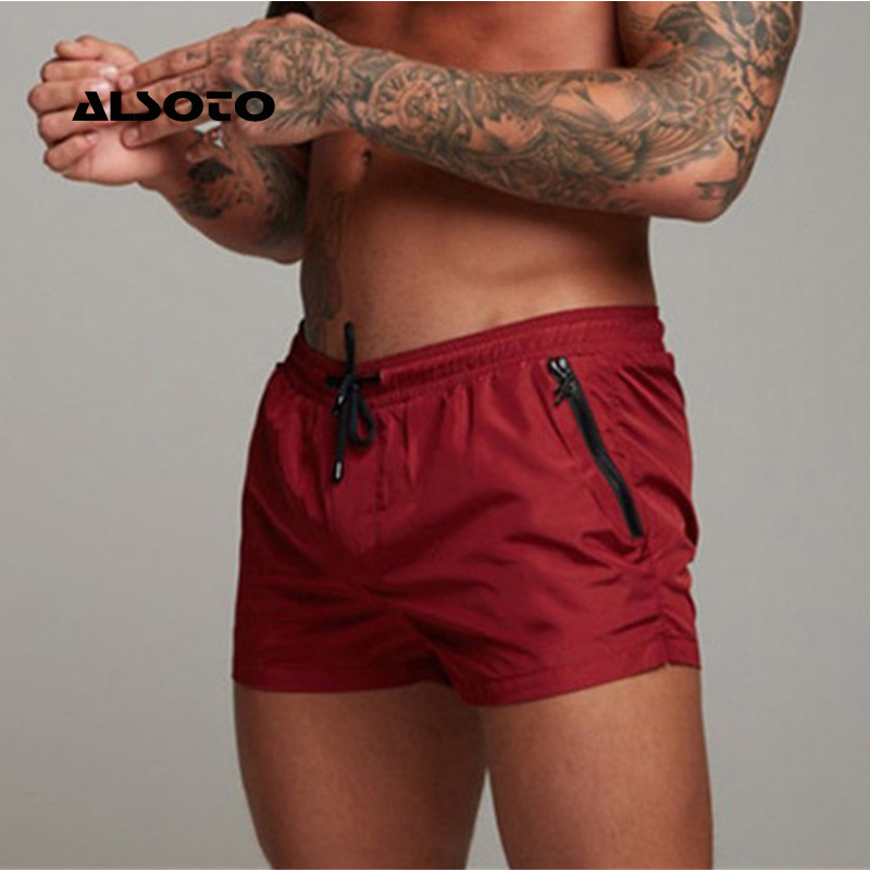 ALSOTO 2019 Mens Swimsuit Sexy Swimwear Briefs Beach Shorts Sports Men Swim Trunks